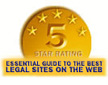 5-star rating in The Best (and Worst) Legal Sites on the Web